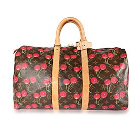 Louis Vuitton Monogram Cerises Keepall 45