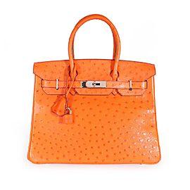 Hermès Tangerine Ostrich Birkin 30 PHW