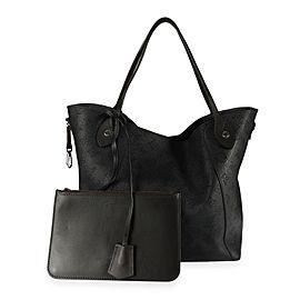 Louis Vuitton Black Mahina Leather Hina MM