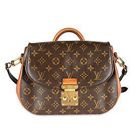 Louis Vuitton Monogram Canvas & Camel Leather Eden MM