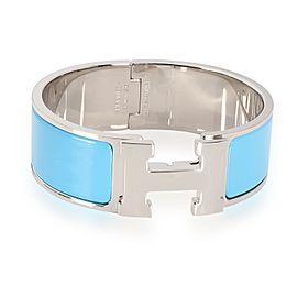 Hermès Blue Enamel Clic Clac H Bangle