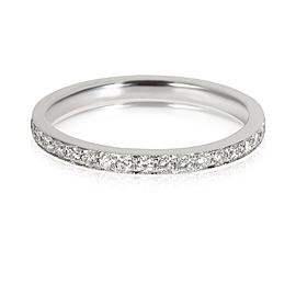 Diamond Milgrain Eternity Band in 18K White Gold 0.55