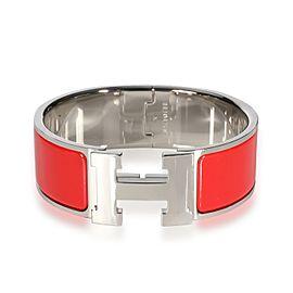Hermès Red Enamel Clic Clac H Bangle