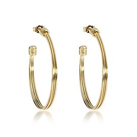 Links of London Wire Hoop Earring in 18K Yellow Gold