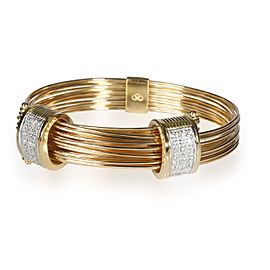 Links of London Diamond Multi Strand Wire Bracelet in 18K Yellow Gold 0.84