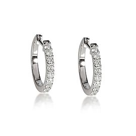 Diamond Huggie Earring in 14K White Gold 0.42