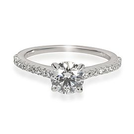 Ritani Diamond Engagement Ring in 14K White Gold AGS Certified F VS1 1