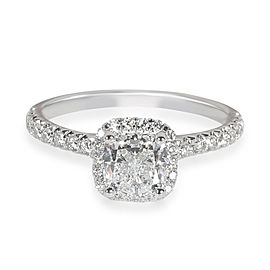 James Allen Halo Diamond Engagement Ring in 14K White Gold GIA F IF 1.23