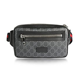 Gucci Black GG Supreme Belt Bag