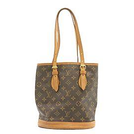 LOUIS VUITTON Monogram Bucket PM Shoulder Bag M42238