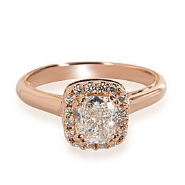 Verragio Halo Diamond Engagement Ring in 20K Rose Gold GIA E IF1.45 CTW