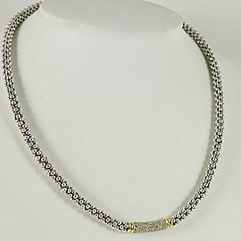 Lagos Sterling Silver .61tcw; G-H; VS2 Diamond Necklace
