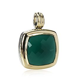David Yurman Albion Pendant with Crysoprase in 18K Yellow Gold/Sterling Silver