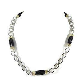 Lagos Sterling Silver Onyx Necklace