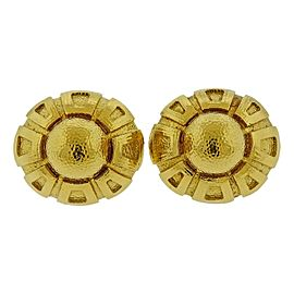 Massive David Webb Gold Cufflinks