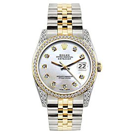 Rolex Datejust Stainless Steel & 18K Yellow Gold Diamond 36mm Watch
