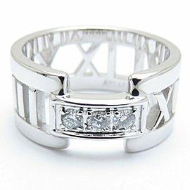 TIFFANY&CO 18K White Gold Diamond Atlas Open ring