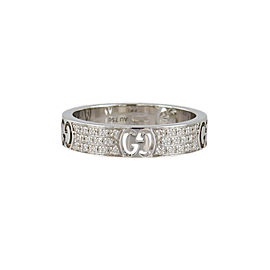 GUCCI 18k white gold Diamond Icon ring