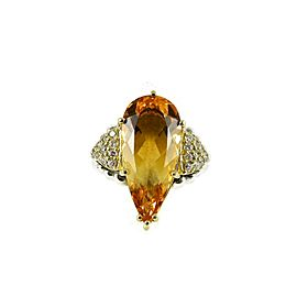 Lagos Sterling Silver .40tcw; G-H; VS2 Citrine, Diamond Ring