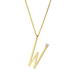 "Mimi So Type Letter ""W"" Pendant"