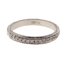 Platinum Diamond Band Ring Size 6
