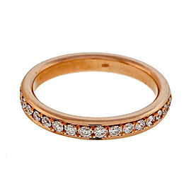 Peter Suchy 18K Rose Gold with 0.30ct. Diamond Wedding Band Ring Size 6.5