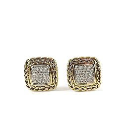 John Hardy 18k Yellow Gold .53tcw Diamond Earrings