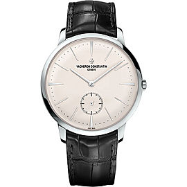 Vacheron Constantin Patrimony 18K White Gold & Leather Hand Wind 42mm Mens Watch