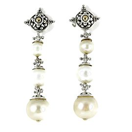 John Hardy Sterling Silver Pearl Earrings