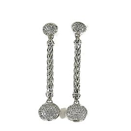 John Hardy Sterling Silver .70tcw Diamond Earrings