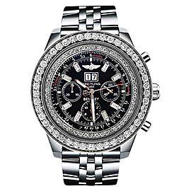 Breitling A4436412 For Bentley 6.75 10ct Diamond Bezel Black Dial Watch