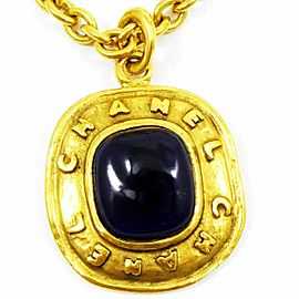 CHANEL Gold-tone Colored Stone Gripoix Necklace CHAT-35