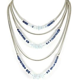 John Hardy Sterling Silver Aquamarine, Kynite Necklace