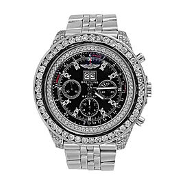 Breitling A4436412 Bentley 6.75 Automatic 14.50 ct Diamond Black Dial Watch