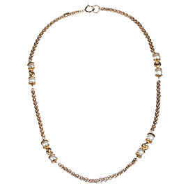 Chanel Faux South Sea White Pearl Chain Flapper Necklace