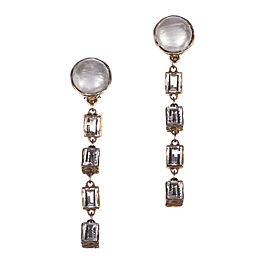 Chanel Runway Drop Faux Simulated Glass Pearl Earrings