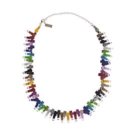 Marc Jacobs Multicolor Zipper Necklace