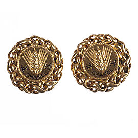 Chanel Monogram Wheat Earrings