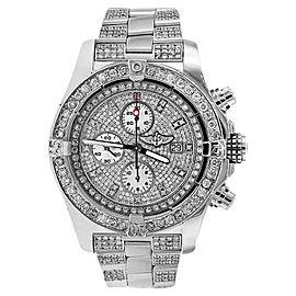 Breitling A13370 Super Avenger Diamond Dial Bezel and Bracelet Watch