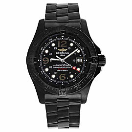 Breitling Superocean A17390 Black PVD Steel Black Dial Mens Watch 44mm