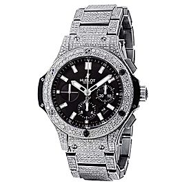 Hublot Big Bang 44 Full Iced Diamonds Mens Watch