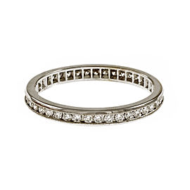 Peter Suchy 18K White Gold 0.41ct Diamond Band Eternity Ring Size 6.25