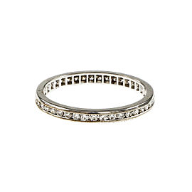18K White Gold Channel Set Diamond Band Ring Size 6.5