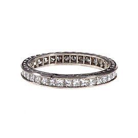 Platinum with Diamond Eternity Ring Size 6.25
