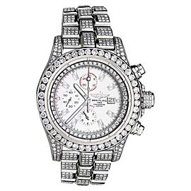 Breitling A13370 Super Avenger White Index Dial Diamond Model Watch