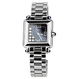 Chopard Happy Sport Classic Square 7 Floating Diamonds Stainless Steel Womens Watch