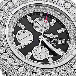 Breitling Super Avenger A13370 Stainless Steel & 30ct Diamond 48.4mm Watch
