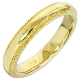 Tiffany & Co. 18K Yellow Gold Milgrain Wedding Band Size 4 Ring