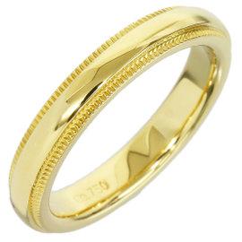 Tiffany & Co. 18K Yellow Gold Milgrain Wedding Band Size 4 Ring