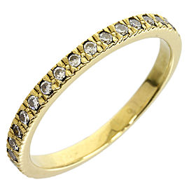 Tiffany & Co. 18K Yellow Gold Novo Half Eternity Enhanced Diamond Size 5.5 Ring
